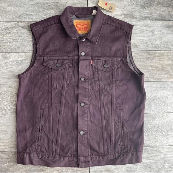 LEVIS Vest Sleeveless Jean Jacket Cotton Denim XL